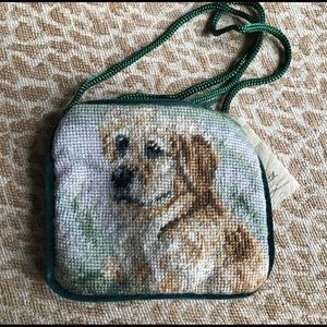 Handbags - Change purse Golden Retriever needlepoint